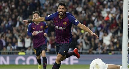 Luis Suarez on Copa Del Rey against Real Madrid
