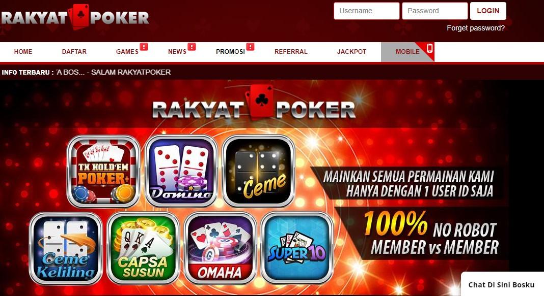 Rakyatpoker Situs Poker Online Paling Mantul